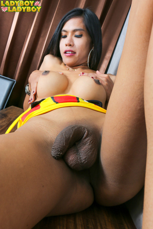 Natty - Beautiful Natty Strokes Her Cock! [HD 720p] (Ladyboy-Ladyboy)