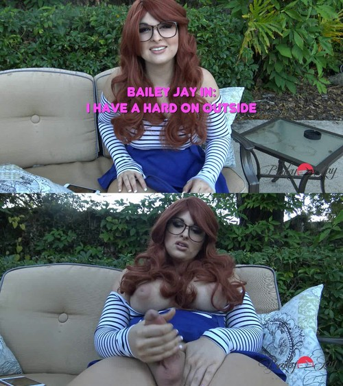 TS-BaileyJay: Bailey Jay - I Have a Hard on Outside (HD/2017)