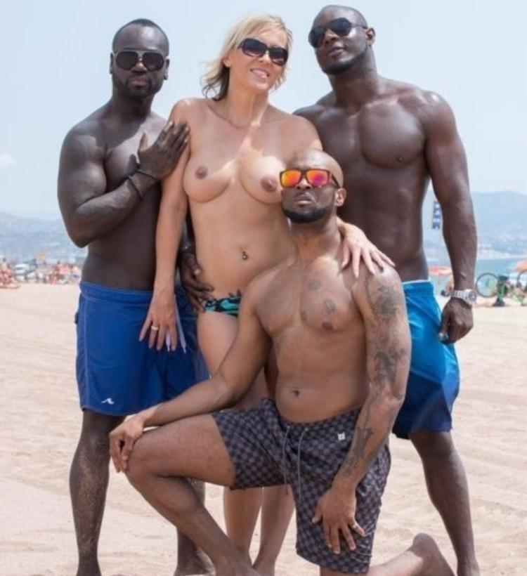 Julia Pink - MILF Julia Pink Stars in Her First Interracial Gangbang