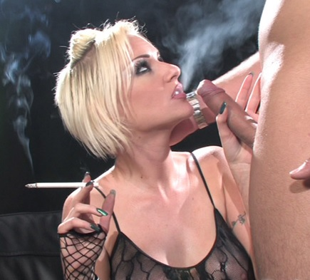 Emma Louise smoking during sex