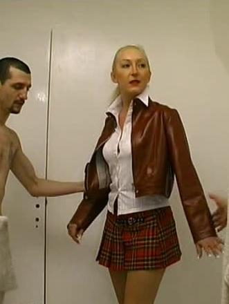 Schoolgirl gets two dicks