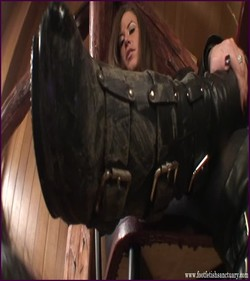 FFS-002 - Mistress Jessica - Extremely Muddy High Heel Boots