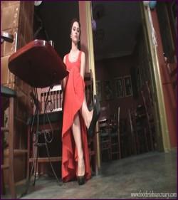 FFS-032 - Mistress Amanda - Dangling At The Bar Table