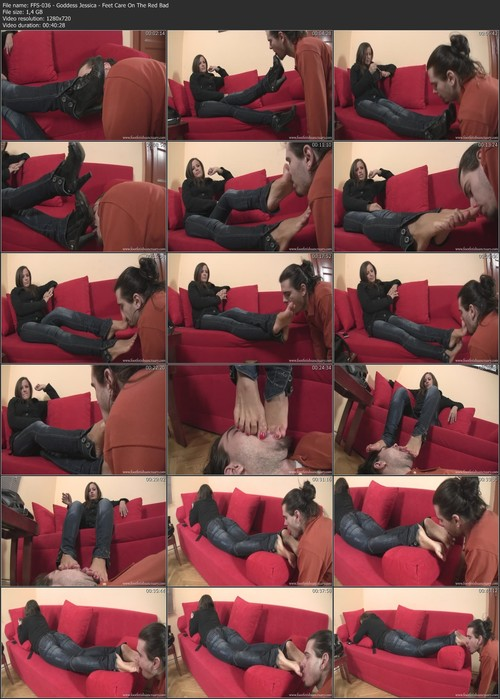 FFS-036 - Goddess Jessica - Feet Care On The Red Bad