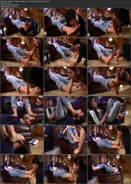 FFS-038 - Goddess Amanda - I Hate It When My Feet Are Dirty!