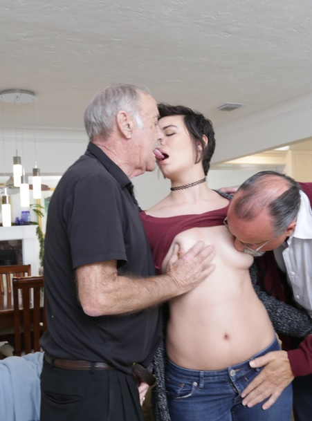 Over 150 years of dick for this sexy brunette!