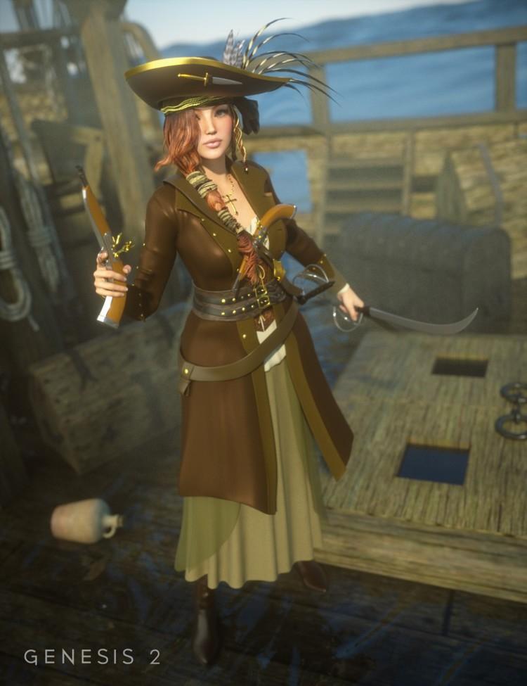 Piratess for Genesis 2 Female(s)