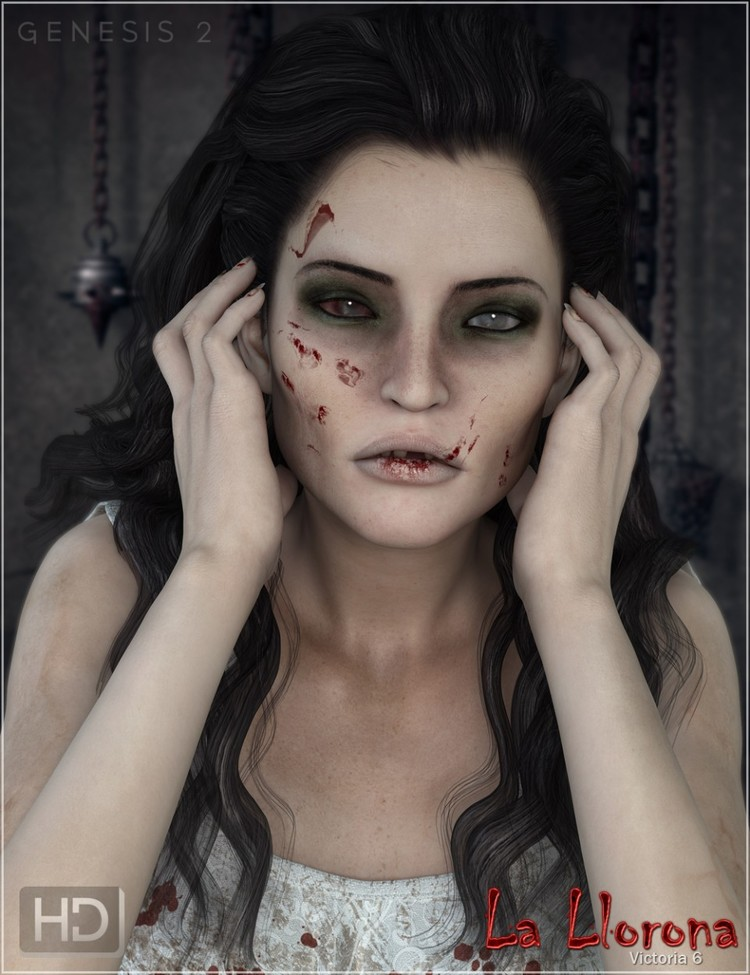 La Llorona - Ghostly HD Characters, Outfit and Poses Bundle