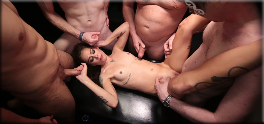 Three girls blow job