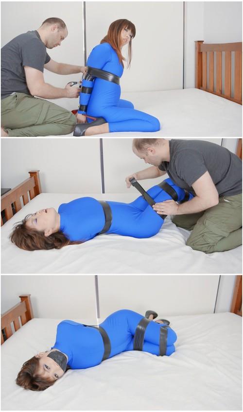 Fetish bondage bench blue