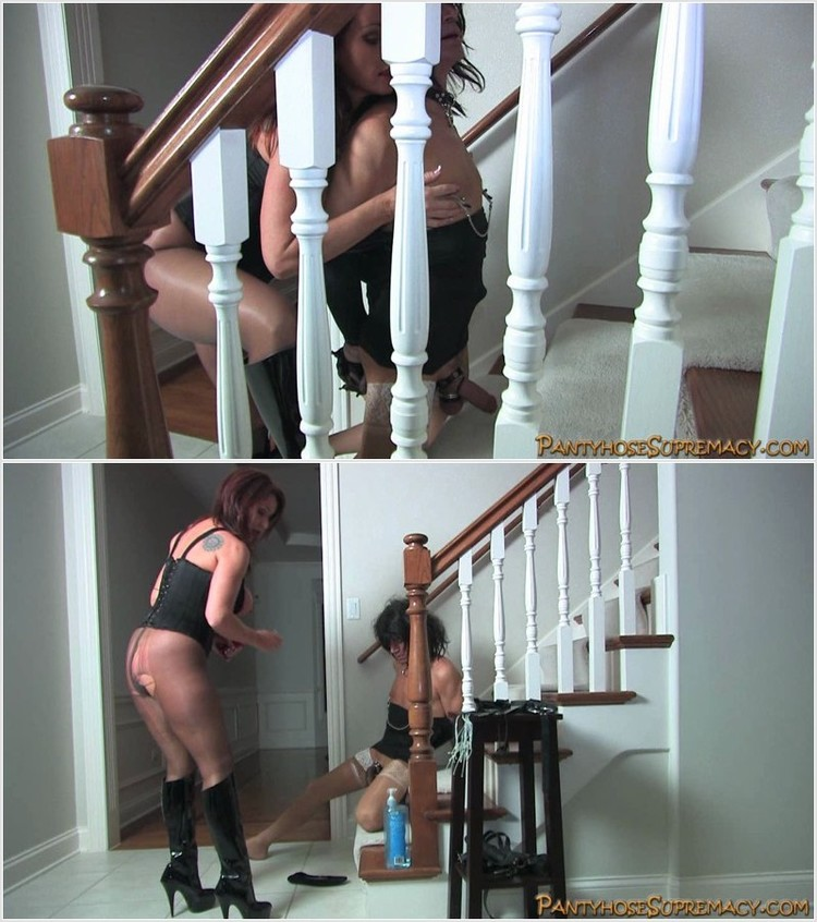 Melanie On The Stairsteps Fuckamouth 1